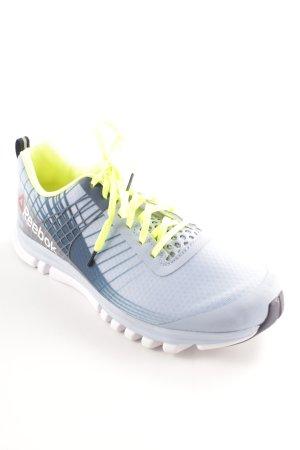 Reebok Schnürsneaker himmelblau-neongelb Mustermix sportlicher Stil