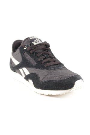 Reebok Schnürsneaker schwarz-silberfarben sportlicher Stil
