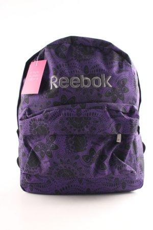 Reebok School Backpack lilac-black allover print casual look