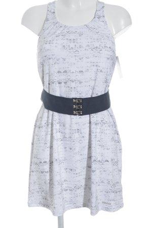 Reebok schulterfreies Kleid grau-weiß abstraktes Muster sportlicher Stil