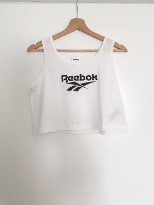 Reebok T-shirt court blanc-noir