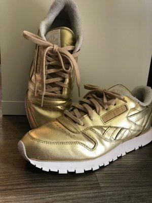 Reebok Sneaker gold Metallic aus Leder