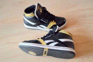 reebok sneaker schwarz gold