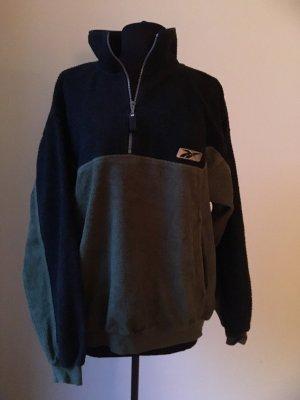 Reebok Sport Sweatshirt in grün/schwarz