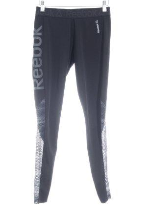Reebok Pantalon de sport noir-gris style athlétique