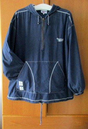 REEBOK - Sportjacke Trainingsjacke Hoodie Laufjacke mit Kapuze blau dunkelblau weiß Gr. XL/ 46-48