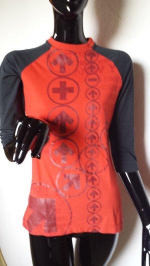 Reebok Sports Shirt black-red cotton