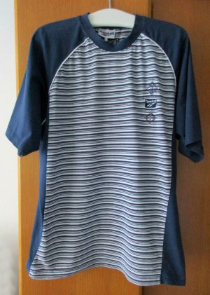 REEBOK - Sportshirt T-Shirt blau dunkelblau weiß Gr. XXL (ca. 48/50)