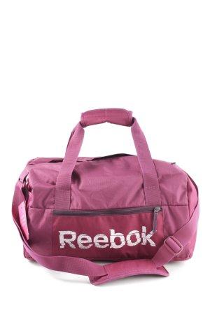 Reebok Sporttas roze-wit casual uitstraling