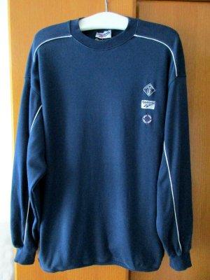 REEBOK - Sweatshirt Sportshirt Shirt Langarm blau dunkelblau weiß 100 % Baumwolle Gr. L/ 46