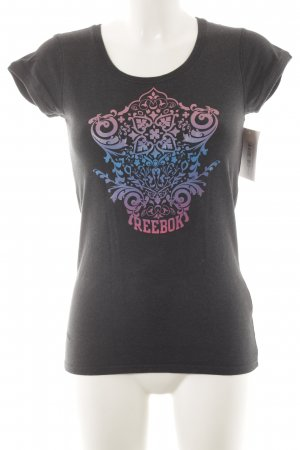 Reebok T-Shirt platzierter Druck Casual-Look