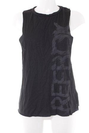 Reebok Tanktop schwarz Motivdruck sportlicher Stil