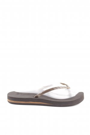 Reef Flip-Flop Sandals brown-black casual look