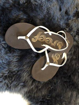 Reef Toe-Post sandals dark brown-white