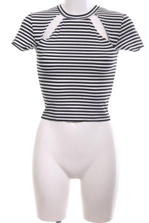 Reformed T-Shirt schwarz-weiß Streifenmuster Casual-Look