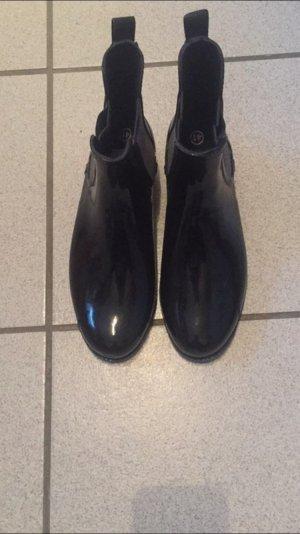 Regen Chelsea Boots schwarz