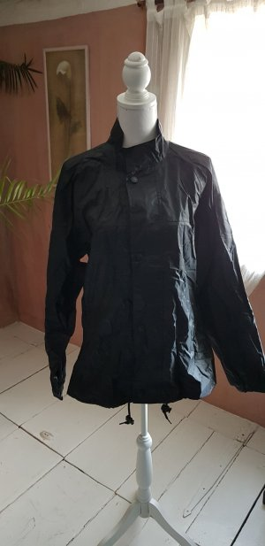 Raincoat black polyester