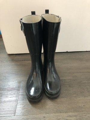 Regen-Schuhe dunkel blau Gummistiefel