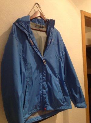 Veste à capuche bleu fluo