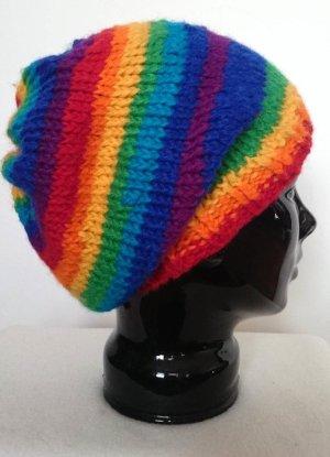 Regenbogen-Loop mit Beanie (Handarbeit!)
