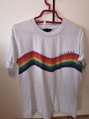 Regenbogen T-Shirt Topshop