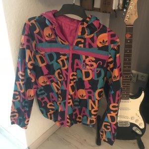 Regenjacke 2in1(Wendejacke) von Adidas, pink/bunt