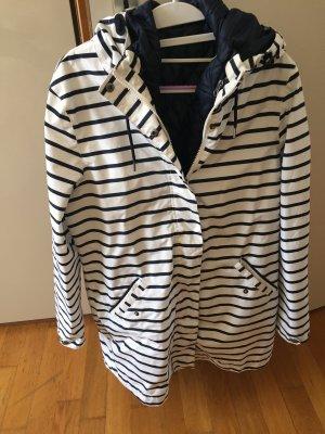 Raincoat white-blue