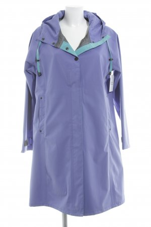 Regenjacke blauviolett-kadettblau Punktemuster Casual-Look