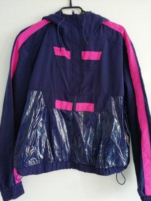 Regenjacke Hoodie Pullover in pink lila sporty blogger style