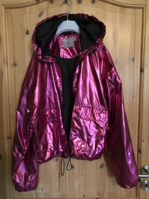 Regenjacke in Metallic pink Gr.40