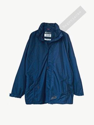 Regenjacke Mantel blau dunkelblau wasserfest winddicht unisex k-way | Vintage | XL
