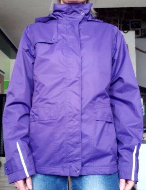 Chaqueta para exteriores violeta azulado Poliéster