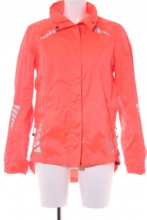 Raincoat neon pink themed print athletic style