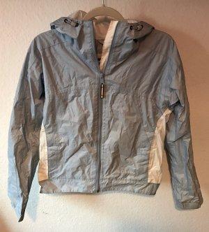 Regenjacke outdoorjacke Jacke Columbia blau weiß Gr. M