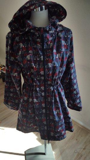 Primark Regenjas donkerblauw-karmijn Polyester
