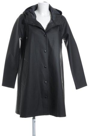 Regenjacke schwarzbraun schlichter Stil