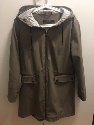 Zara Raincoat khaki-green grey