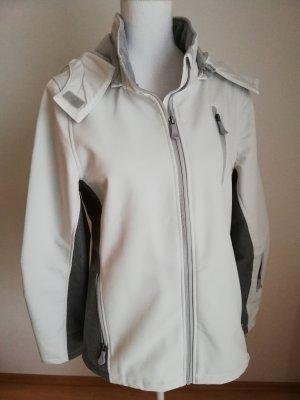 Janina Raincoat white-dark grey