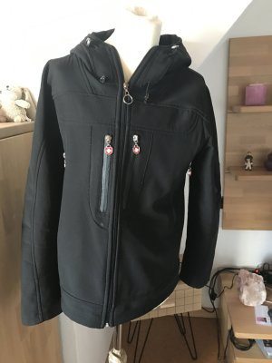 Regenjacke Wellensteyn Parka Mantel schwarz Outdoor