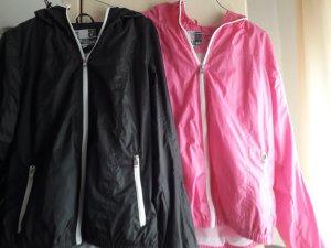 Regenjas zwart-roze