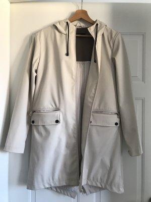 Zara Heavy Raincoat natural white