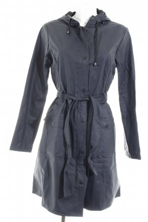 Rains Heavy Raincoat dark blue casual look