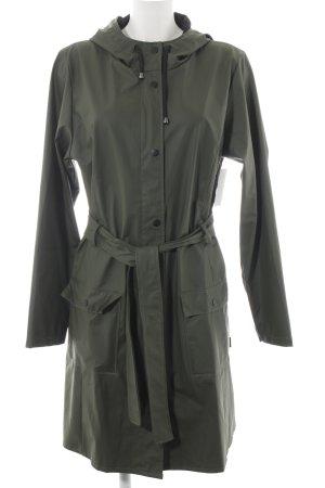 Heavy Raincoat dark green athletic style