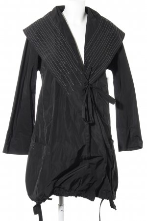 Heavy Raincoat black striped pattern athletic style