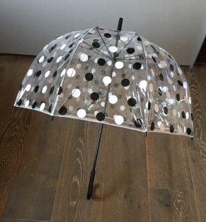 Parapluie long noir-blanc