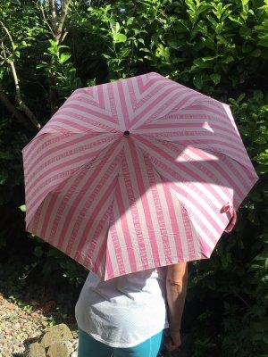 Pink Victoria's Secret Parapluie pliant blanc-rose