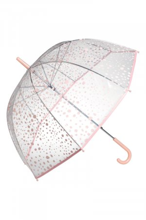 Actuel Modell Walking-Stick Umbrella pink-white synthetic material