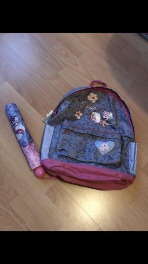 Regenschirm + Rucksack