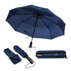 Ombrello pieghevole blu scuro
