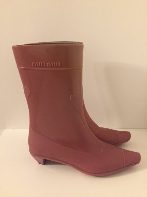 Miu Miu Botas de agua rosa-malva